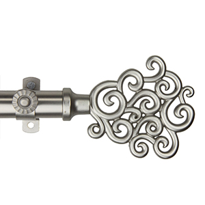Tidal Satin Nickel 120 to 170-Inch Curtain Rod