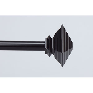 Classic Black 28 to 48 Inch Quad Curtain Rod