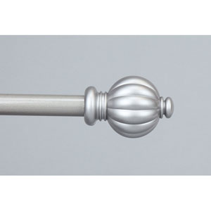 Classic Satin Nickel 48 to 84 Inch Pumpkin Curtain Rod