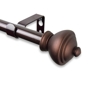 Savannah Cocoa 28 to 48-Inch Curtain Rod