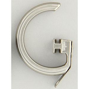 Elite Satin Nickel Decorative Traverse Rod Rings, Set of 10