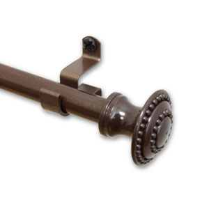 Amulet Cocoa 28-48 In. Curtain Rod