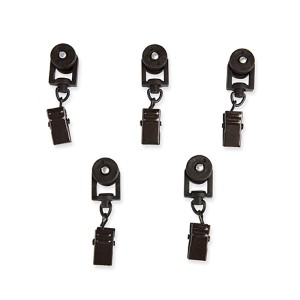 Black Carrier Sliders For Traverse Rod, Set of 10
