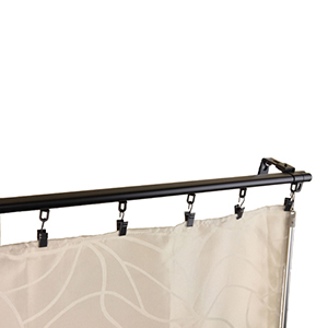 Regal Black 66 to 120-Inch Curtain Track