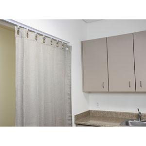 Multipurpose Room Divider White 20 Ft. Track Kit