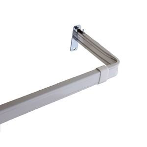 Lockseam White 48 to 84-Inch Curtain Rod with 3-Inch Projection