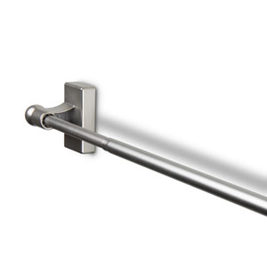 Satin Nickel 17 to 30-Inch Magnetic Curtain Rod