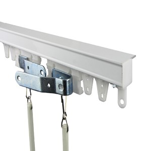 Commercial Ceiling White 96-Inch Curtain Track Kit