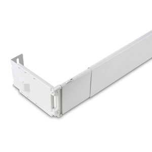 White 2.5-Inch Wide 28 to 48-Inch Pocket Curtain Rod