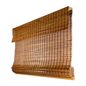 Beaver 39 x 64 In. Cordless ADA Bamboo Roman Shade