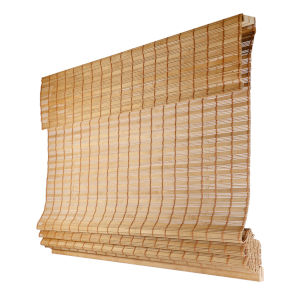 Squirrel 39 x 64 In. Cordless ADA Bamboo Roman Shade