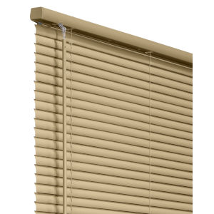 Cordless Gloss Cappuccino 43 x 64 Inch ADA Vinyl Horizontal Window Blind