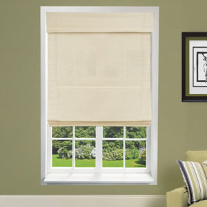Cordless Sandstone 35 x 64 In. Double Layered Roman Shade