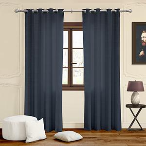 Virginia Navy 63 x 52 In. Curtain Panel Pair