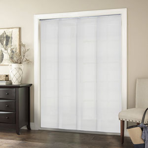 Birch White 96-Inch x 80-Inch Adjustable Sliding Panel