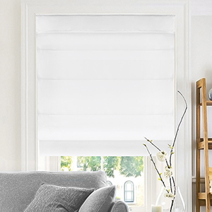 Belgian Snow 64 x 36 In. Cordless Roman Shade