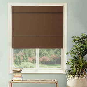 Mountain Chocolate Cordless Mag Roman Shade, 23 x 64