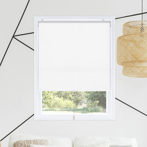 Snap-N-Glide Byssus White 23 In. W x 72 In. H Cordless Roller Shades