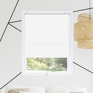 Snap-N-Glide Byssus White 44 In. W x 72 In. H Cordless Roller Shades