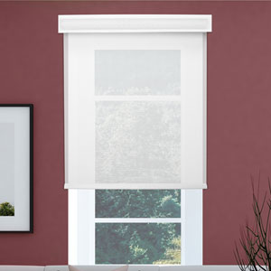 Cloud White Cordless Roller 27 x 72 In. Solar Shade