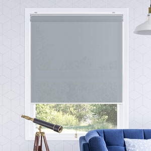 Snap-N-Glide Urban Grey 27 In. W x 72 In. H Cordless Roller Shades