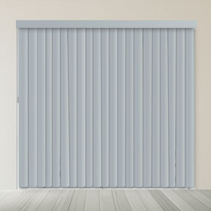 Oxford Gray 84 x 78 In. Cordless Patio Door Vertical Blinds