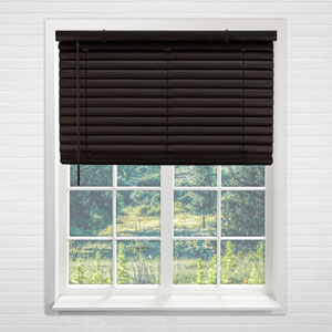 Dark Walnut 35 In. x 64 In. Blinds