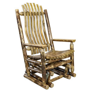 Glacier Country Stain and Lacquer Glider Rocker