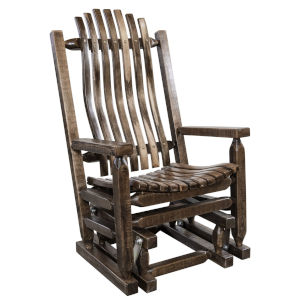 Homestead Stain and Clear Lacquer Glider Rocker