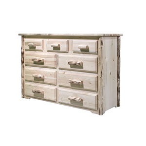 Montana Unfinished Dresser Nine Drawer