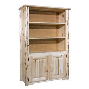 Montana Unfinished Bookcase w/ Storage