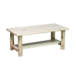 Montana Unfinished Coffee Table w/ Shelf