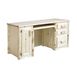 Montana Lacquered Desk Computer Three Drawers Tower Slideout