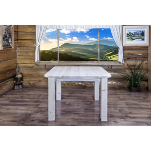 Montana Unfinished Dining Table Four Post Square