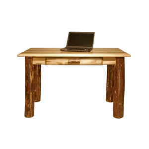 Glacier Country Stained and Lacquered Desk Laptop/Writing