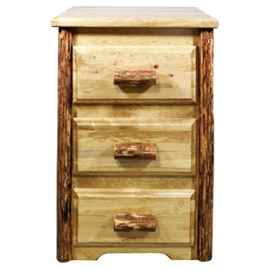 Glacier Country Stained and Lacquered Three Drawer Nighstand