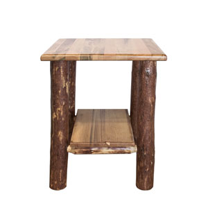 Glacier Country Stained and Lacquered Nightstand w/ Shelf