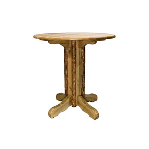 Glacier Country Stained and Lacquered Table Center Pedestal