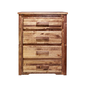 Homestead Stained and Lacquered Chest Four Drawer