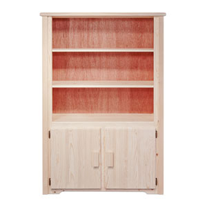 Homestead Unfinished Bookcase w/ Storage