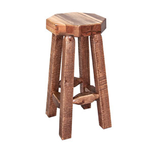 Homestead Stained and Lacquered Barstool no Back