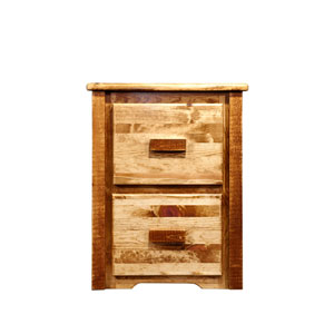 Homestead Stained and Lacquered File Cabinet Two Drawer