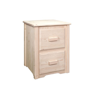 Homestead Lacquered File Cabinet Two Drawer