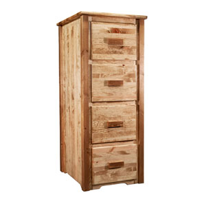 Homestead Stained and Lacquered File Cabinet, Four Drawers