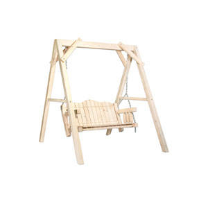 Homestead Exterior Stain Lawn Swing w/ A Frame Exterior Finish