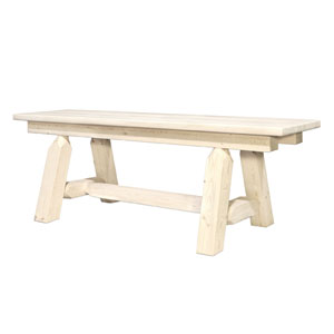 Homestead Lacquered Plank Style Bench, Six Ft.