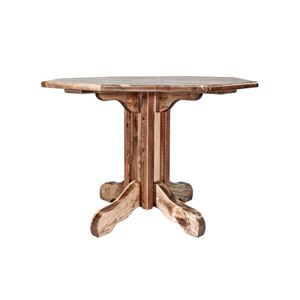 Homestead Stained and Lacquered Table, Center Pedestal