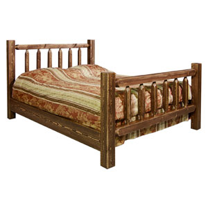 Homestead Stained and Lacquered Twin Bed