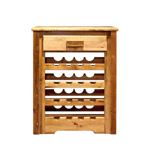 Homestead Stained and Lacquered Wine Cabinet