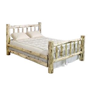 Montana Unfinished Log Bed Eastern King